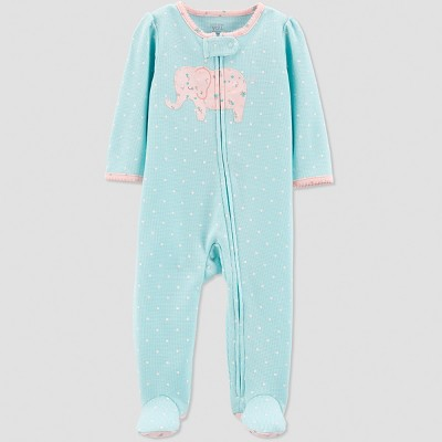 Baby Girls' Thermal Elephant Sleep 'N Play - Just One You® made by carter's Blue 3M