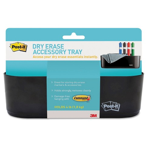 "Post-it® Dry Erase Accessory Tray, 8.5"" x 3"" x 5.25"" - Black - image 1 of 4"
