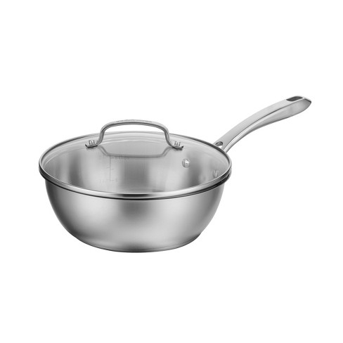 Cuisinart 3qt Stainless Steel Chef's Pan with Cover - image 1 of 4