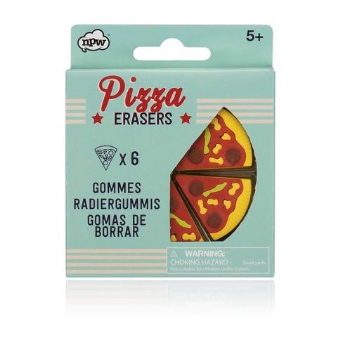 6ct Pizza Designed Erasers - NPW - image 1 of 1