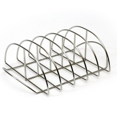 Kamado Joe Stainless Steel Rust Proof Dishwasher Safe Portable Grilling Rib Rack