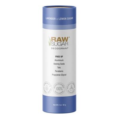 Raw Sugar Deodorant Lavender + Lemon Sugar - 2 oz