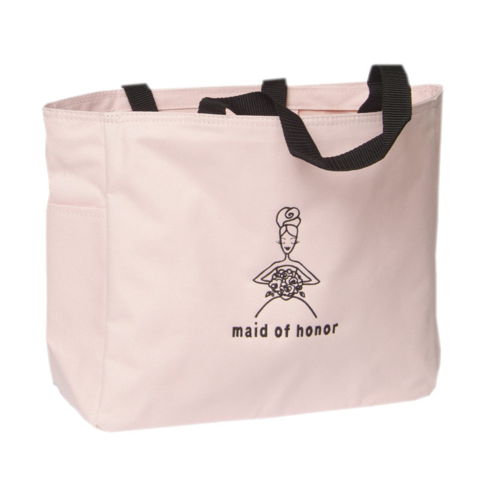 Maid of Honor Wedding Gift Tote Bag - Pink, Women's