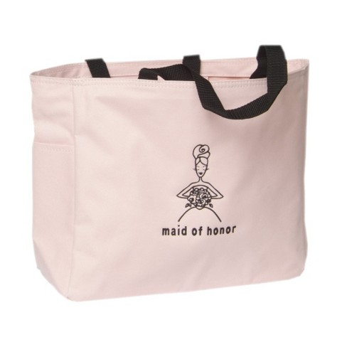 Maid of Honor Wedding Gift Tote Bag - Pink - image 1 of 2