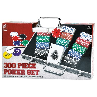 Cardinal 300 Pc Poker Set in Aluminum Carrying Case