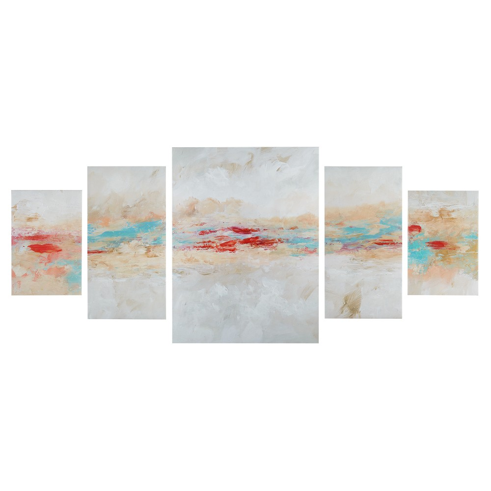 Unframed Wall Canvas 38.98 X 2.87 X 26.8, Multi-Colored