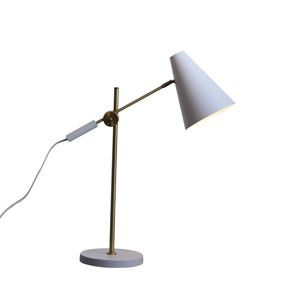 Metal Task Desk Lamp 21.75 (Lamp Only) - 3R Studios, White
