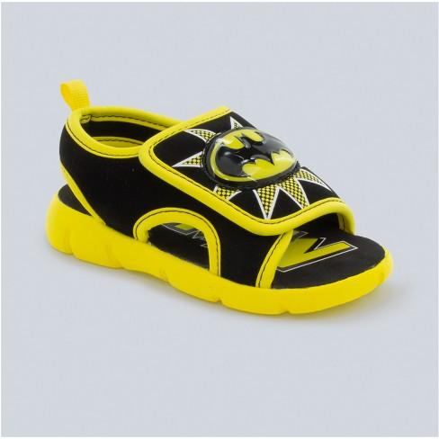 Toddler Boys' DC Comics Batman Light-Up Slide Sandals - Black - image 1 of 3