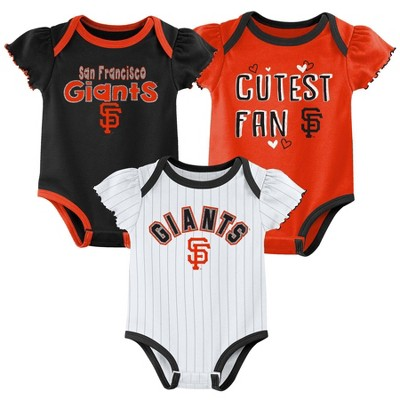 MLB San Francisco Giants Baby Girls' 3pk Bodysuit Set