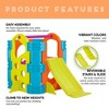 ECR4Kids Activity Park Playhouse for Kids, Indoor Outdoor Play House with Slide or Climb Stairs - image 4 of 4