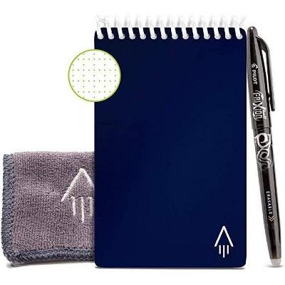 "Mini Smart Spiral Reusable Notepad Dot-Grid 48 Pages 3.56""x5.75"" - Rocketbook"