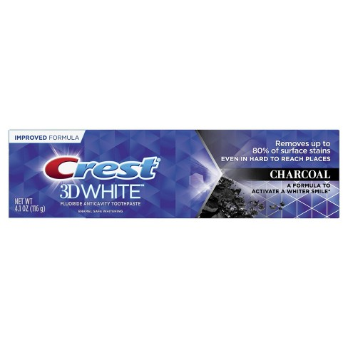 Crest 3d White Charcoal Whitening Toothpaste 4 1oz Target