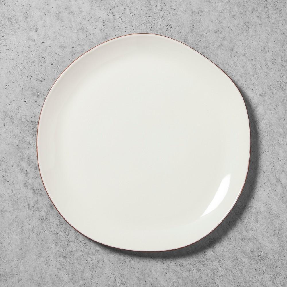 Stoneware Platter with Terracotta Rim - Cream - Hearth & Hand with Magnolia, White