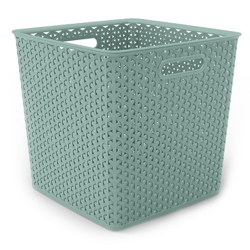 Cube Storage Bin - Pale Mint - Room Essentials™ - image 1 of 1