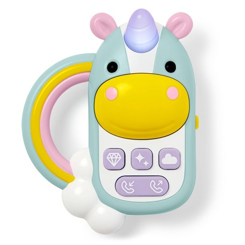 Skip Hop Zoo Unicorn Baby Cell Phone Toy - image 1 of 8