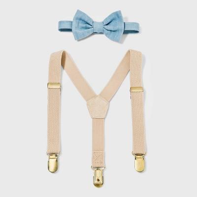 Toddler Boys' Suspender Bowtie Set - Cat & Jack™ Tan