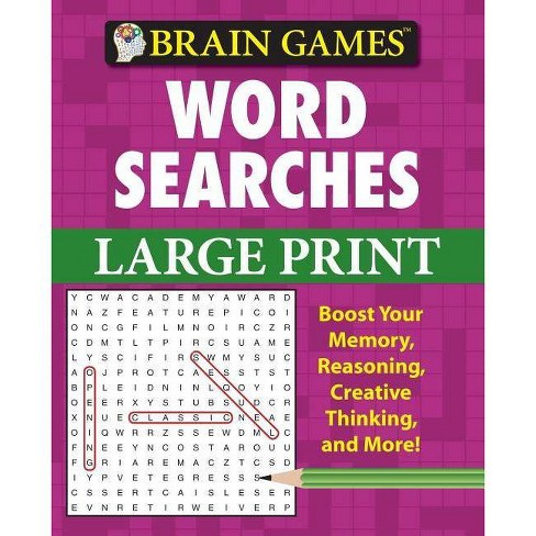 Word Searches - (Brain Games (Unnumbered)) by  Myles Callum & Jeanette Dall & Mark Danna (Spiral_bound) - image 1 of 1