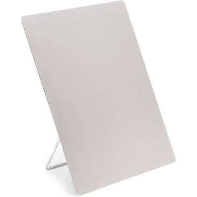 Stainless Steel Small Dry Erase Whiteboard Easel, Reminder Board with Stand for Desktop (9 x 11 in)