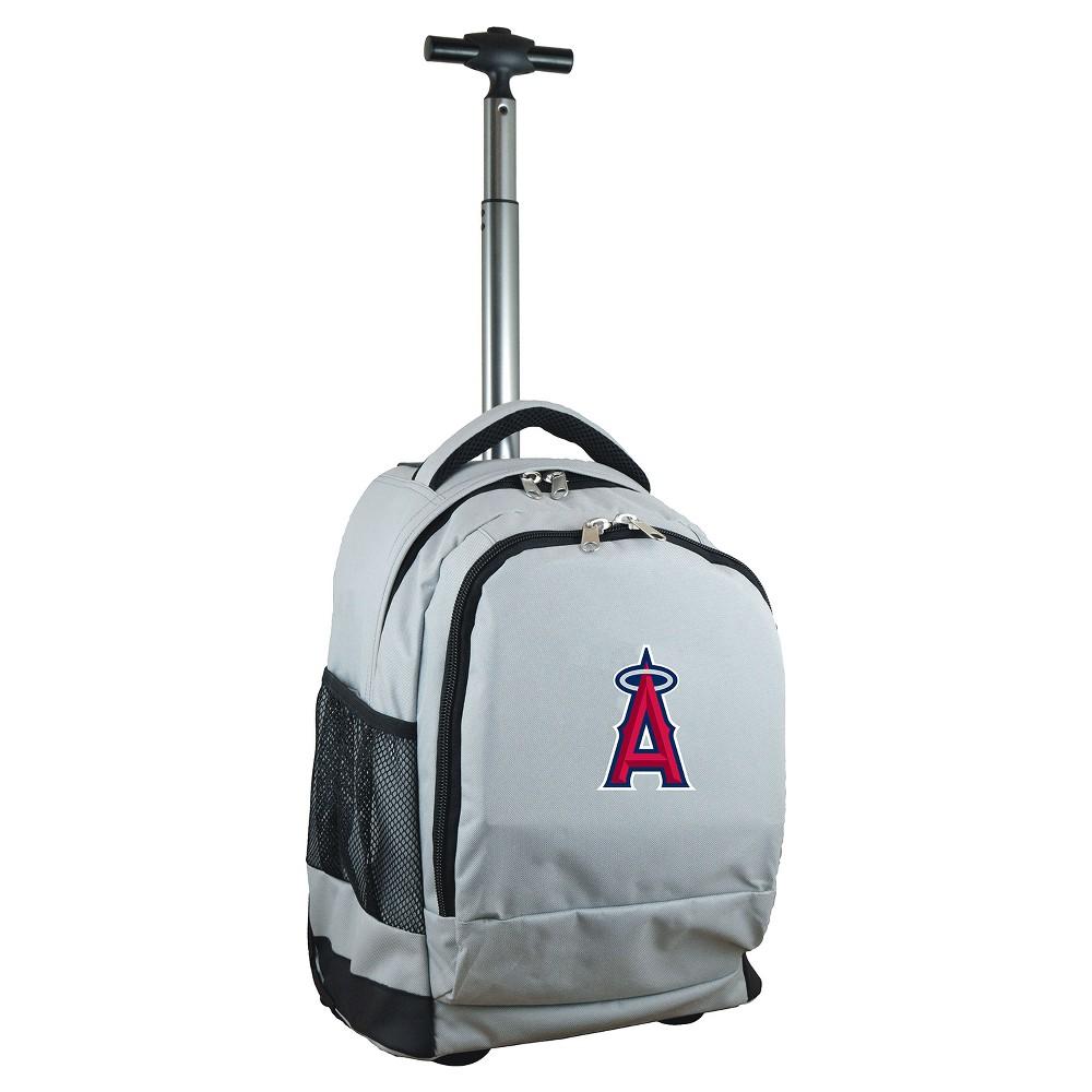 MLB Los Angeles Angels Premium Wheeled Backpack - Gray