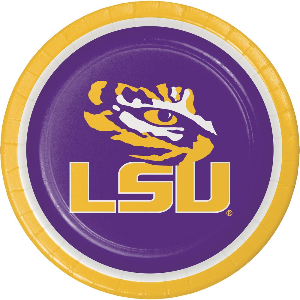 Image of 24ct LSU Tigers Paper Plates Purple