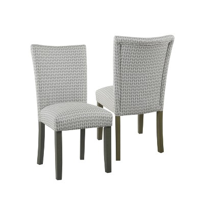 Set of 2 Parsons Pattern Dining Chair Wood – HomePop
