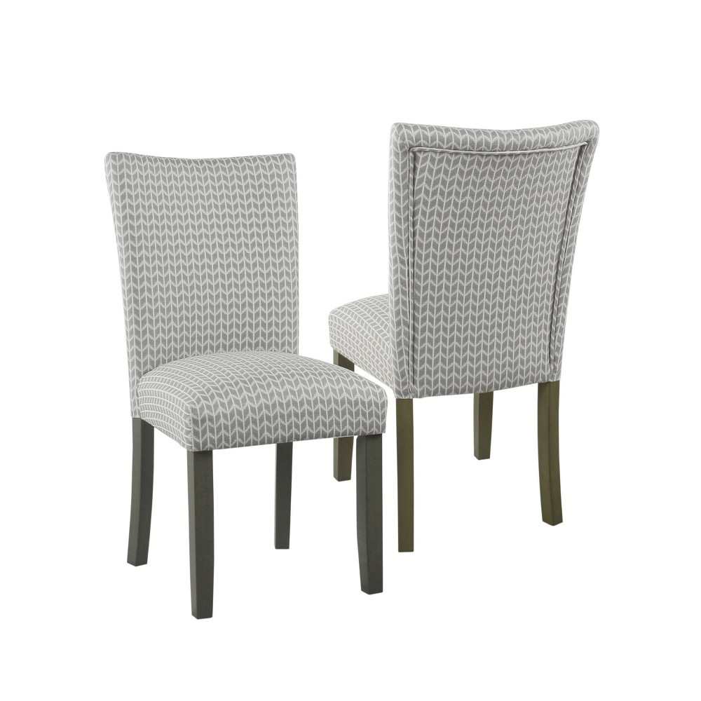 Set of 2 Classic Parsons Dining Chair Tan - HomePop