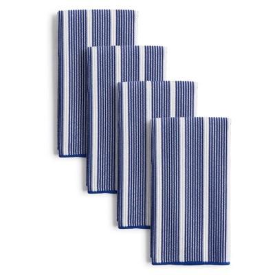 "8pk 15""X19"" Rainbow Stripe Barmops Navy - Town & Country Living"