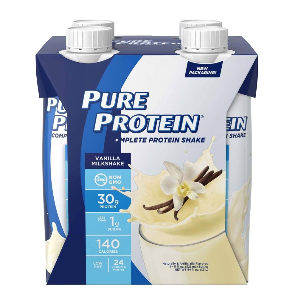 Pure Protein Complete 30g Protein Shake Vanilla Cream 4ct 44 Fl Oz