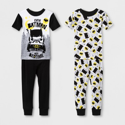 Toddler Boys' Justice League 4pc Pajama Set - Black 2T