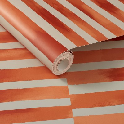 Ophelia Striped Peel and Stick Wallpaper Coral - Opalhouse™ designed with Jungalow™
