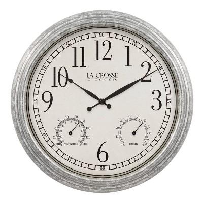 """13"""" Silas Indoor/Outdoor Wall Clock - La Crosse Technology"""