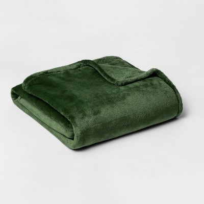 Twin/Twin XL Microplush Bed Blanket Green - Threshold™