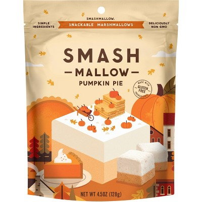 Smashmallow Organic Halloween Pumpkin Pie Marshmallow - 4.5oz