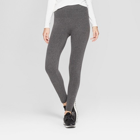 63afab0cf5e0f9 Women's High Waist French Terry Leggings - A New Day™ Charcoal Heather Gray