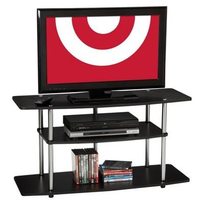 Convenience Concepts 3-Tier Entertainment TV Stand - Black