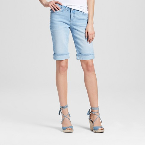 "Women's Redmond Cuffed 12"" Bermuda Jean Shorts - Crafted by Lee® - image 1 of 2"