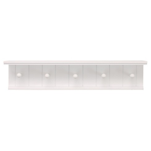 Kian Wall Shelf with Pegs - White - image 1 of 4