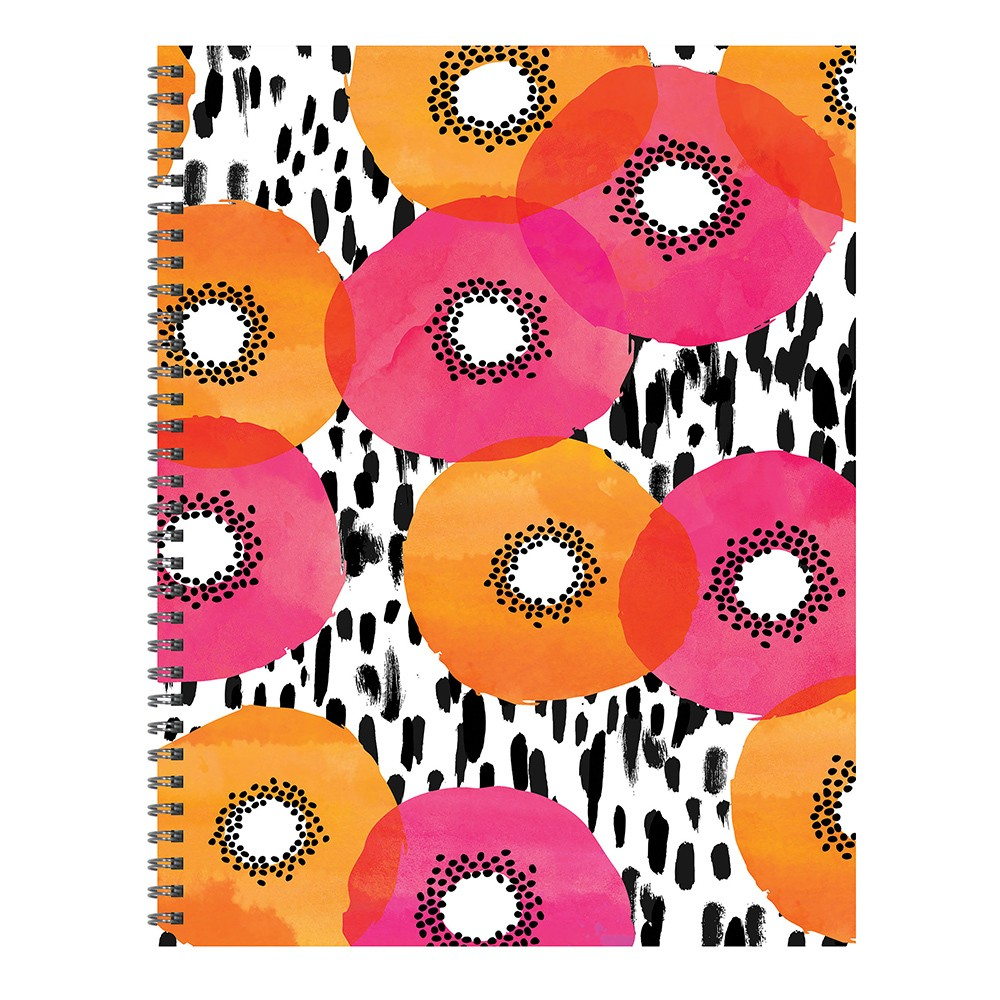Undated Spiral Abstract Poppy Weekly Planner - TF Publishing, Poppies