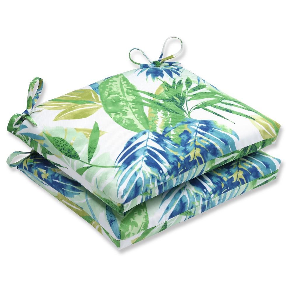 Pillow Perfect Outdoor Cushion Set Blue