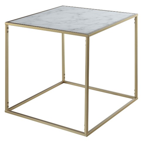 Johar Furniture Gold Coast Faux Marble End Table Gold - image 1 of 5