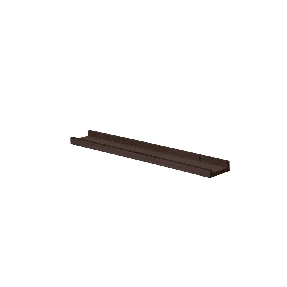 "Image of ""24"""" x 4"""" Border Shelf Espresso - Dolle Shelving, Brown"""