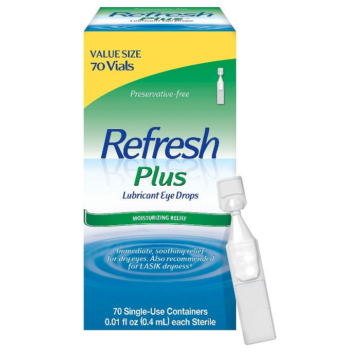 Refresh Plus Moisture Drops for Dry Eyes including Lasik Dryness - 70 Single Use Containers - image 1 of 1