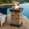 """Chesney 19.50"""" MGO Gas Fire Column - Square - Natural Stone - Christopher Knight Home - image 4 of 4"""