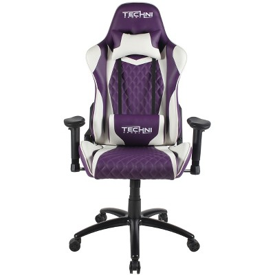 Ergonomic High Back Racer Style Video Gaming Chair Purple   Techni Sport :  Target
