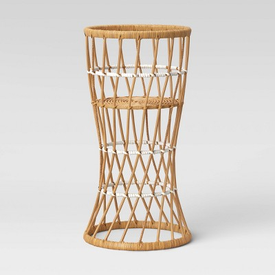 "23"" x 23"" Rattan Planter Stand Natural - Opalhouse™"