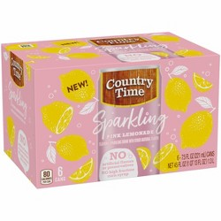 Country Time Sparkling Pink Lemonade - 6pk/7.5 fl oz Cans