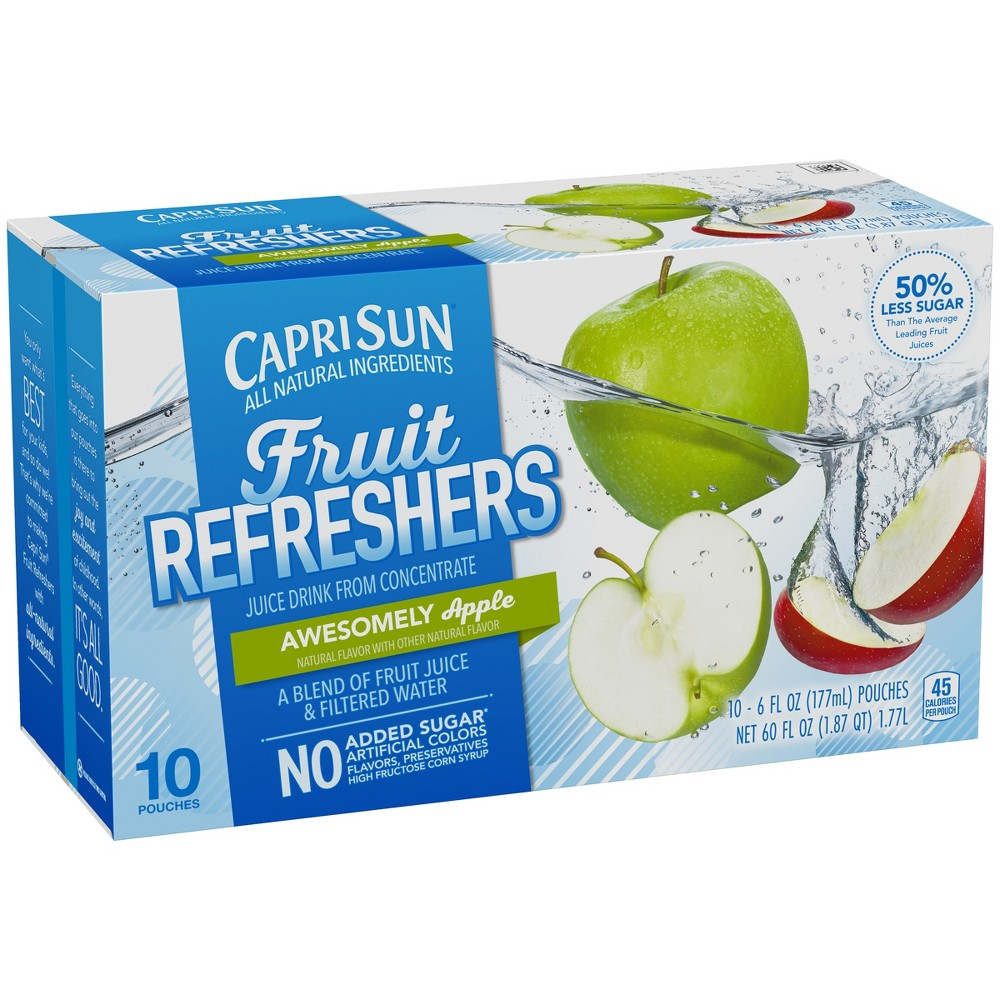 Capri Sun Fruit Refreshers Apple - 10pk/6 fl oz Pouches