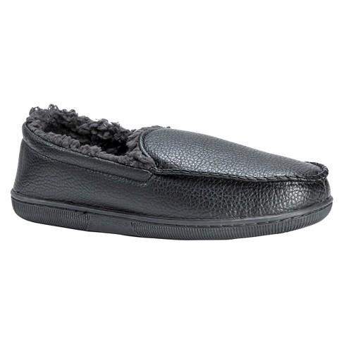 0f3c146b0bfc Men s MUK LUKS® Loafer Slippers - Black S(8-9)   Target