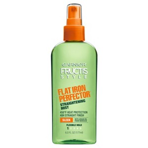 Garnier Fructis Style Sleek & Shine Flat Iron Perfector Flexible Hold Straightening Mist - 6 fl oz