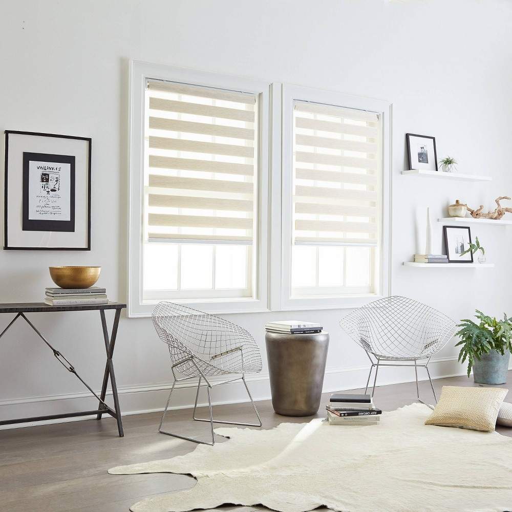 "Image of ""34""""x64"""" Light Filtering Window Shade Panel Linen - CHF Industries"""